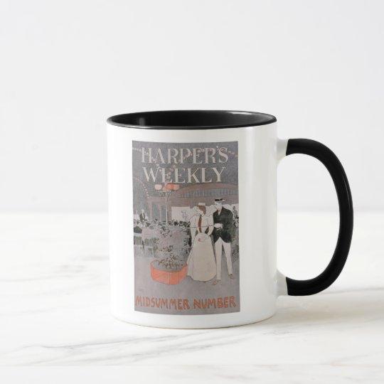 Poster advertising 'Harper's Weekly', Midsummer Nu Mug