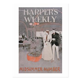 Poster advertising 'Harper's Weekly', Midsummer Nu Postcard