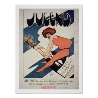 Poster advertising 'Jugend, illustrated Weekly Mag