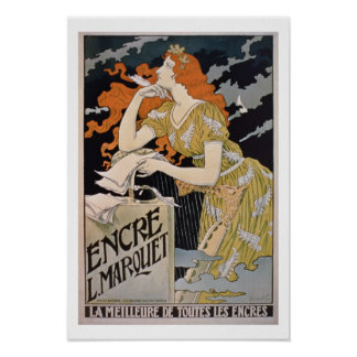 Poster advertising 'L. Marquet Ink, The Best Of Al