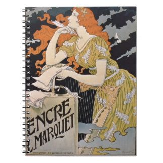 Poster advertising 'L. Marquet Ink, The Best Of Al Spiral Notebook