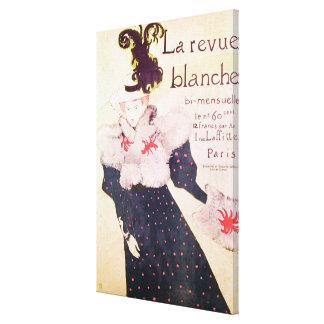 Poster advertising 'La Revue Blanche', 1895 Canvas Print