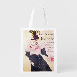 Poster advertising 'La Revue Blanche', 1895 Reusable Grocery Bag