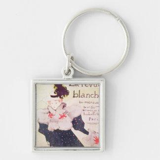 Poster advertising 'La Revue Blanche', 1895 Silver-Colored Square Keychain