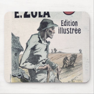 Poster advertising 'La Terre' by Emile Zola, 1889 Mouse Pads