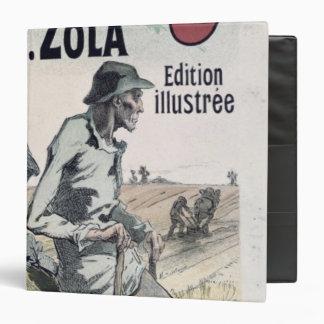 Poster advertising 'La Terre' by Emile Zola, 1889 Vinyl Binders