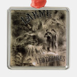 Poster advertising 'Lakme' Square Metal Christmas Ornament