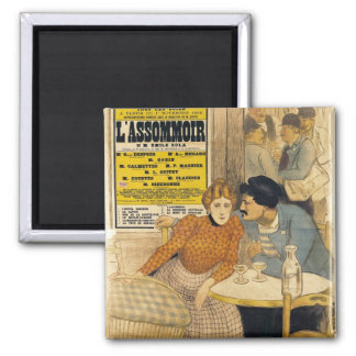 Poster advertising L'Assommoir by M.M.W. Magnets