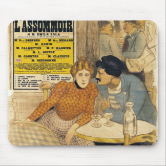 Poster advertising L'Assommoir by M.M.W. Mouse Pad