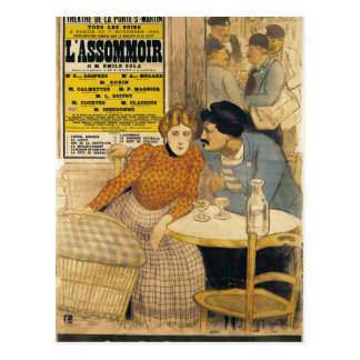 Poster advertising L'Assommoir by M.M.W. Postcard
