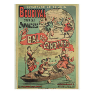 Poster advertising 'Le Bal des Canotiers' Postcard