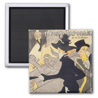 Poster advertising 'Le Divan Japonais', 1892 2 Inch Square Magnet