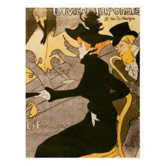 Poster advertising 'Le Divan Japonais', 1892 Postcard