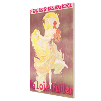 Poster advertising Loie Fuller Canvas Print