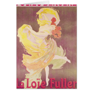 Poster advertising Loie Fuller Card