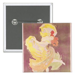 Poster advertising Loie Fuller Pinback Button