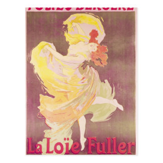 Poster advertising Loie Fuller Postcard