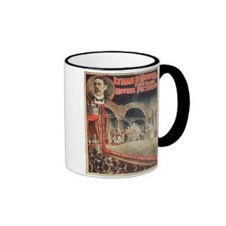 Poster advertising Lyman H. Howe's 'High Class Mov Ringer Coffee Mug