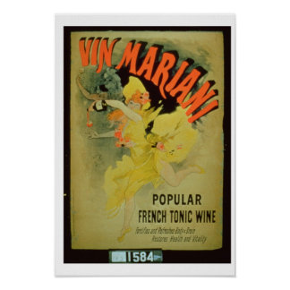 Poster advertising 'Mariani Wine, Popular French T