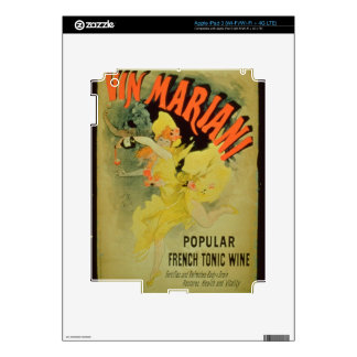 Poster advertising 'Mariani Wine, Popular French T iPad 3 Decals