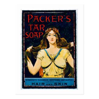 Poster advertising 'Packer's Tar Soap' (colour lit Postcard