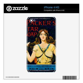 Poster advertising 'Packer's Tar Soap' (colour lit Skin For iPhone 4S