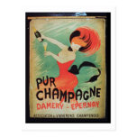 Poster advertising 'Pur Champagne', from Damery, E Post Card
