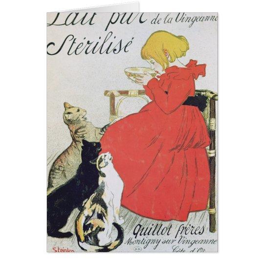 Poster advertising Pure Sterilised Milk Card