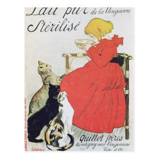 Poster advertising Pure Sterilised Milk Postcard