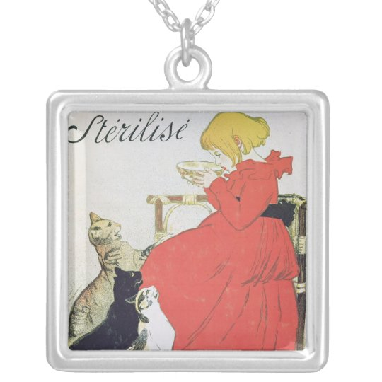 Poster advertising Pure Sterilised Milk Silver Plated Necklace