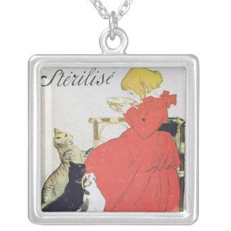 Poster advertising Pure Sterilised Milk Square Pendant Necklace