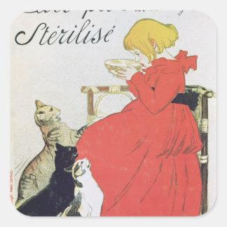 Poster advertising Pure Sterilised Milk Square Sticker