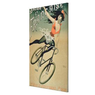 Poster advertising 'Societe La Francaise', Paris ( Canvas Print