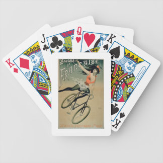 Poster advertising 'Societe La Francaise', Paris ( Bicycle Playing Cards