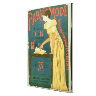 Poster advertising subscriptions to 'Paris Mode' M Canvas Print