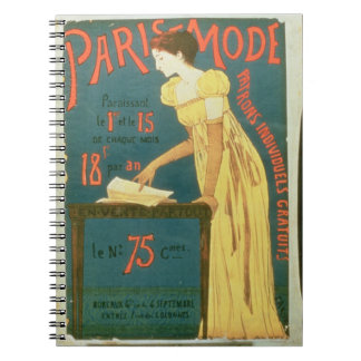 Poster advertising subscriptions to 'Paris Mode' M Spiral Note Books