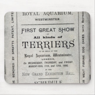 Poster advertising the Allied Terrier Club Mouse Pad