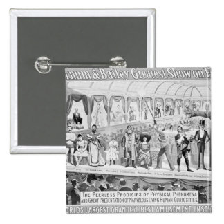 Poster advertising, 'The Barnum and Bailey Pinback Buttons