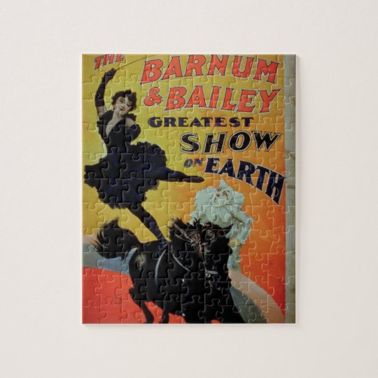 Poster advertising 'the Barnum and Bailey Greatest Jigsaw Puzzle