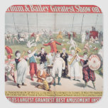 Poster advertising the Barnum Square Sticker