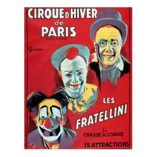 Poster advertising the Cirque d Hiver de Paris Postcards
