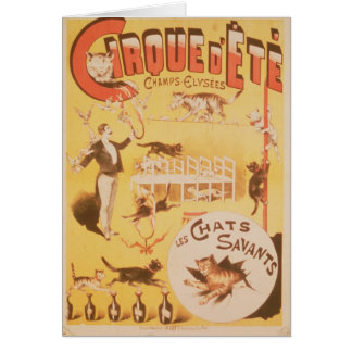 Poster advertising the Cirque d'Ete in the Card