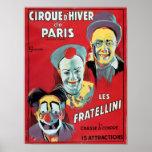 Poster advertising the 'Cirque d'Hiver de Paris'