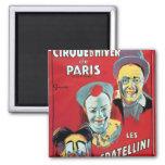 Poster advertising the 'Cirque d'Hiver de Paris' Refrigerator Magnet
