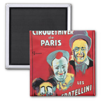 Poster advertising the 'Cirque d'Hiver de Paris' Magnet