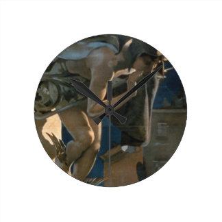 Poster advertising the 'Corriere della Sera', prin Round Clock