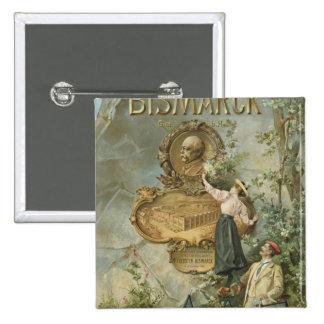 Poster advertising the Fahrrad Werke Bismarck Pinback Button