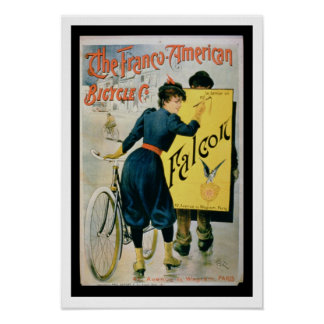 Poster advertising 'The Franco-American Bicycle Co