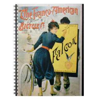 Poster advertising 'The Franco-American Bicycle Co Notebook