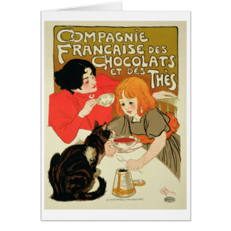 Poster Advertising the French Company of Chocolate Greeting Card